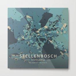 Stellenbosch, South Africa - Cream Blue Metal Print