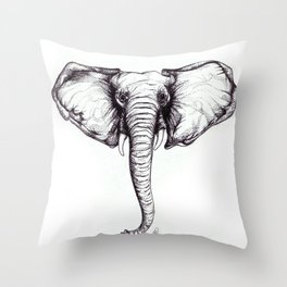 'Mamie' African Elephant Throw Pillow