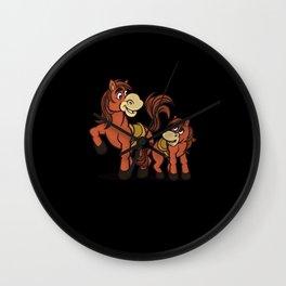 Folen Horse Riding Horses Wall Clock