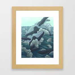 Happy Whales Framed Art Print