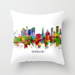 Dublin Republic of Ireland Skyline Throw Pillow