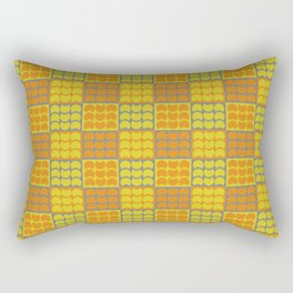 Hob Nob Orange Quarters Rectangular Pillow