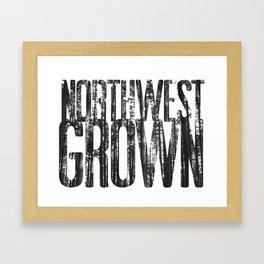 NORTHWEST GROWN Framed Art Print