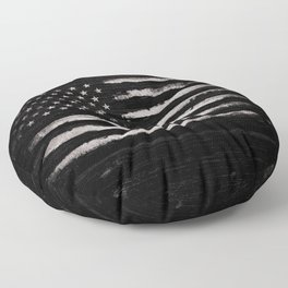 American flag White Grunge Floor Pillow