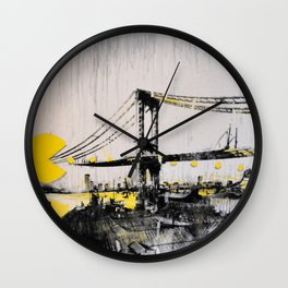 Mixed Media Art 1 Wall Clock