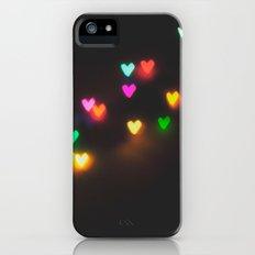 heart bokeh Slim Case iPhone (5, 5s)