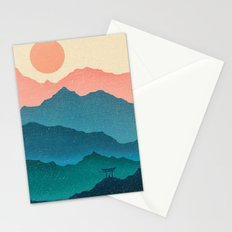 Meditating Samurai Stationery Cards