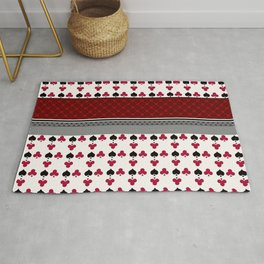 Colorful Patchwork Playing Cards Red and Black Poker Home Textile Rug