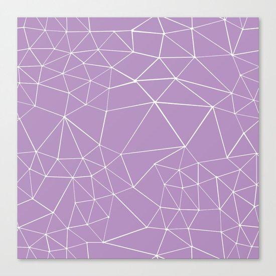 Segment Zoom Orchid Canvas Print