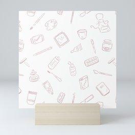 Art Supplies Rose Mini Art Print