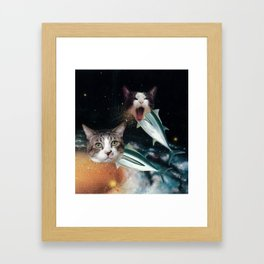 Meowfish Framed Art Print