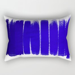 Shel - abstract painting painterly brushstrokes indigo blue bright happy paint abstract minimal mode Rectangular Pillow