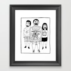 BACK OFF Framed Art Print
