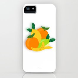 Citrus Fruit Drawing iPhone Case