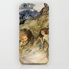 """Puck and a Fairy"" by Arthur Rackham iPhone Case"