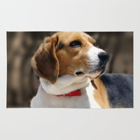 beagle Area & Throw Rugs featuring Beagle by Artistically Home