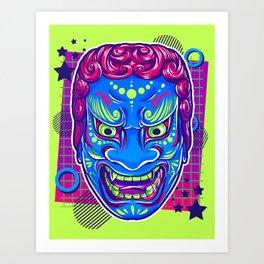 Neon Noh - Fudo Art Print