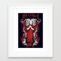 occult Framed Art Prints featuring Occult by Tshirt-Factory