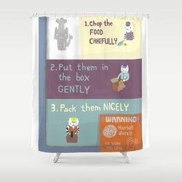instructional safety poster Shower Curtain