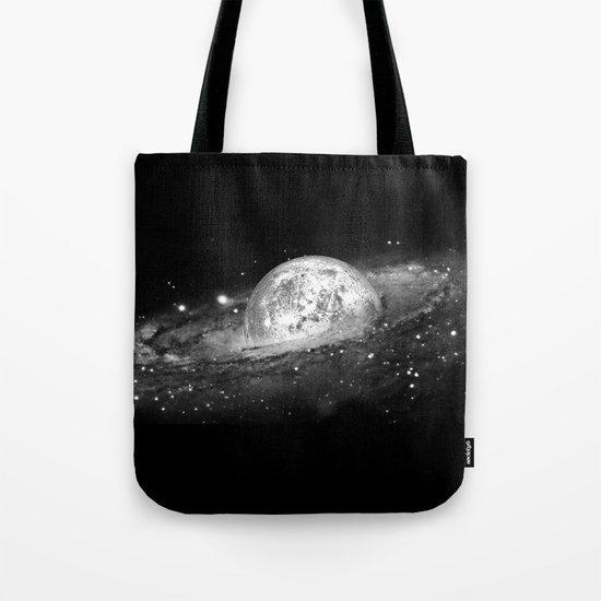 Moon and Galaxy Tote Bag