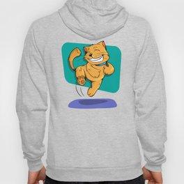 Jumping Golden Brown Cat Hoody