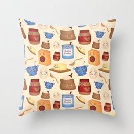 Deconstructed Peanut Butter Cookie Throw Pillow