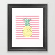 Pineapple Stories Framed Art Print