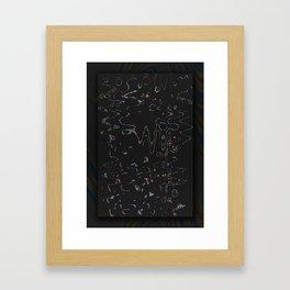 NEW BLACK Framed Art Print