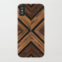 Urban Tribal Pattern No.3 - Wood iPhone Case