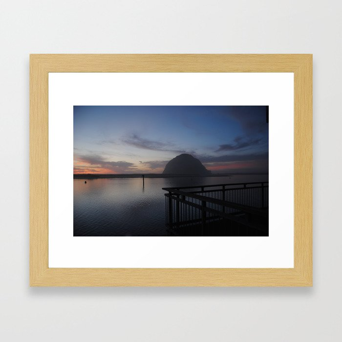 Morro Bay sunset Framed Art Print