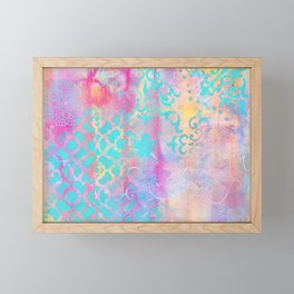 Colorful Abstract Patterns Framed Mini Art Print
