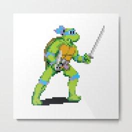 Pixelated Teenage Mutant Ninja Turtles (TMNT) - Leonardo Metal Print
