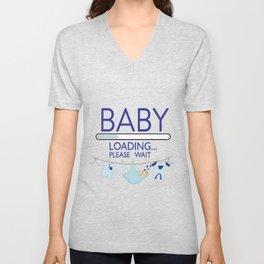 Baby Boy Loading Please Wait Unisex V-Neck