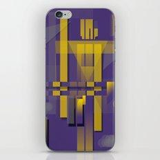 Purple Slices Yellow iPhone & iPod Skin
