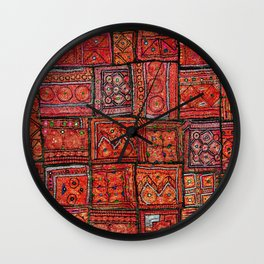 V5 Red Traditional Moroccan Design - A3 Wall Clock