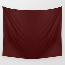 Simply Maroon Red Wall Tapestry
