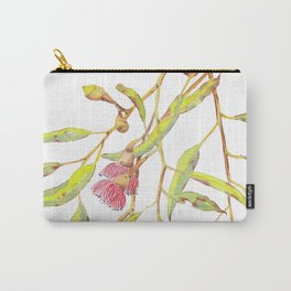 Flowering eucalyptus tree branch Carry-All Pouch