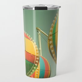 Up Up & Away II Carnival, fair, ride, amusement, whimsical, fun rainbow, adventure Travel Mug
