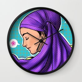 Purple Wrap Wall Clock