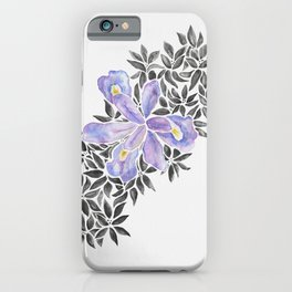 Iris and Butterfly Weeds - Purple & Black Palette iPhone Case