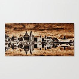 Liverpool Water front Skyline (Digital Art) Canvas Print