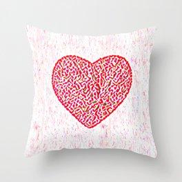 Round Heart Throw Pillow