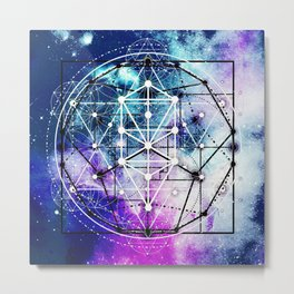 Sacred Geometry: Intertwined Metal Print