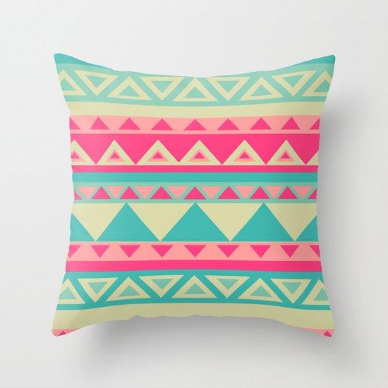 Tropical Tribal Throw Pillow