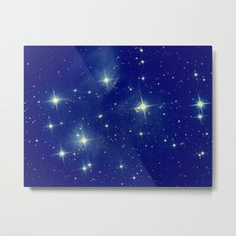 Blue starry night Metal Print