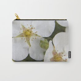 white wild rose Carry-All Pouch