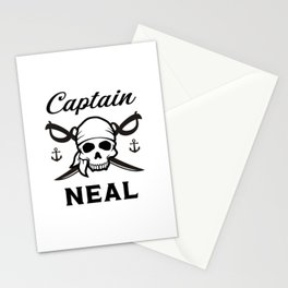 Personalized Name Gift Captain Neal Stationery Cards