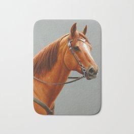 Red Dun Western Quarter Horse Bath Mat