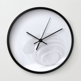 Blue Shell, Elegant Minimalist Art by Murray Bolesta! Wall Clock