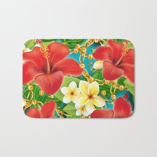 tropical color party  Bath Mat